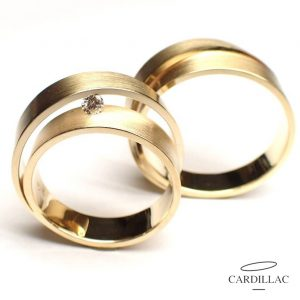 Violet Dames ring d033g en Herenring d033g Cardillac-Trouwringen