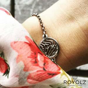 Dames Armband-rond FPA 204 vingerafdruk