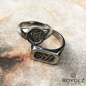 Ring rond FPR 301 en FPR 304 zegel vingerafdruk
