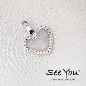 139-S Zilver Hanger Heart zirkonia