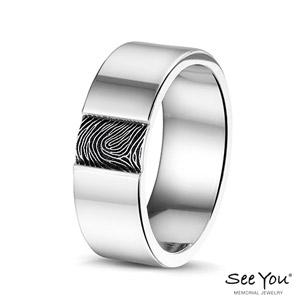 408S Steel ring vingerafdruk