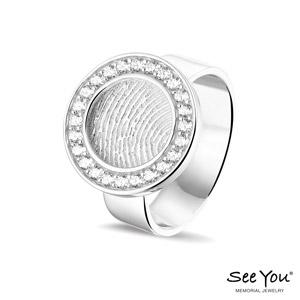 410S ring zilver vingerafdruk