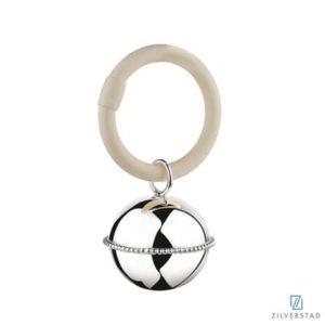 Rammelaar Bal parel aan ring (Zilver) A7357010