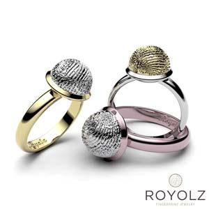 Royolz Bulla Ring met vingerafdruk