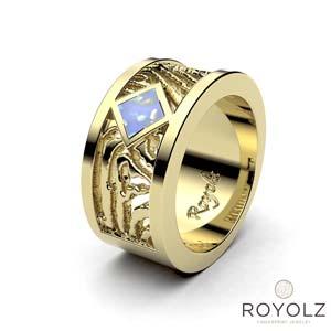 Royolz Asring Recht FPR 303.010-AC met vingerafdruk geelgoud