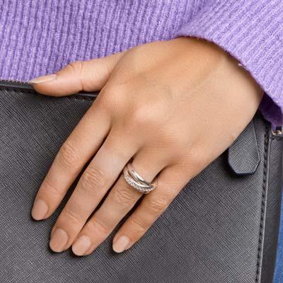 013-14786K Ring Zilver met zirkonia