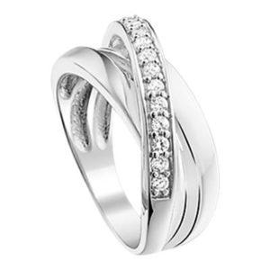 013-14818K Ring Zilver met zirkonia