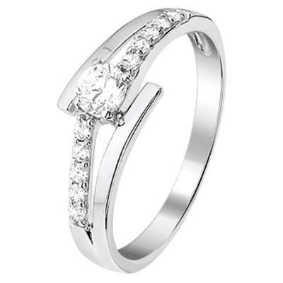 013-16295K Ring Zilver met zirkonia