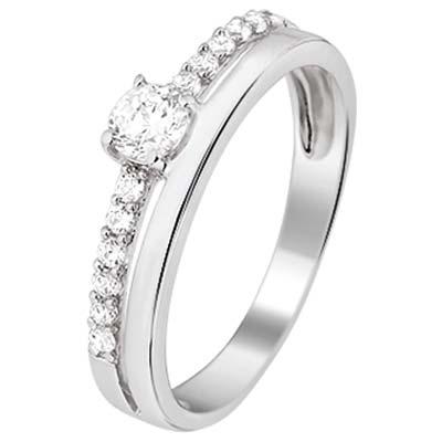 013-16301K Ring Zilver met zirkonia