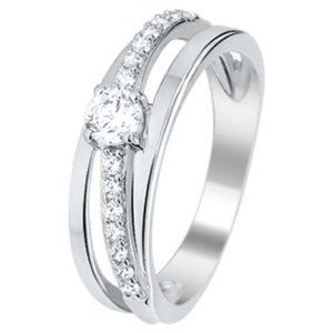 013-16308K Ring Zilver met zirkonia