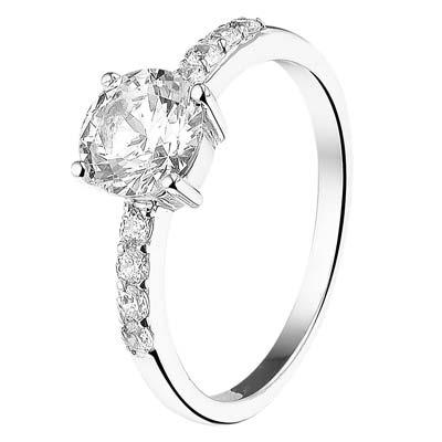 013-18208K Ring Zilver met zirkonia