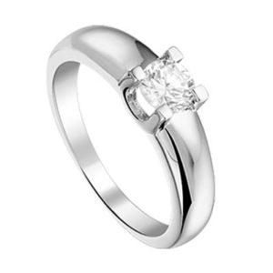 013-18670K Ring Zilver met zirkonia