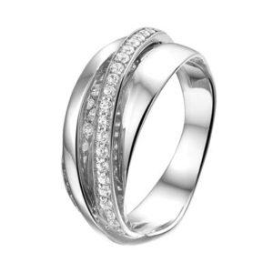013-18838K Ring Zilver met zirkonia