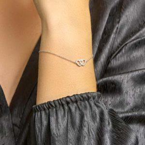 013-18911K Armband met Hartjes Z 1.3 mm