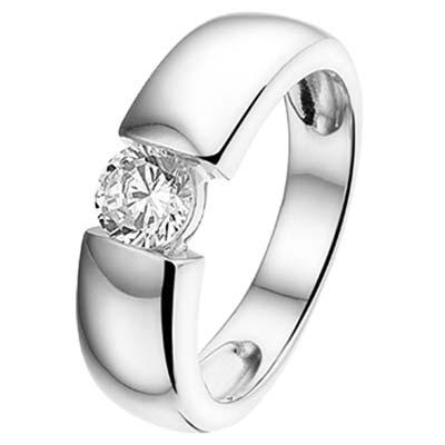 013-19704K Ring Zilver met zirkonia