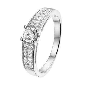 013-19734K Ring Zilver met zirkonia