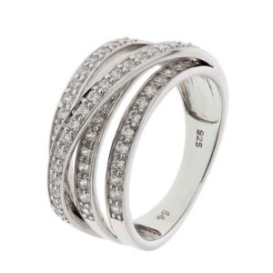 013-23096K Ring Zilver met zirkonia