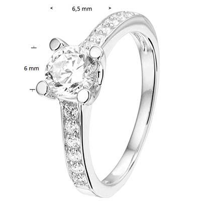 013-26597K Ring Zilver met zirkonia