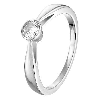 013-26628K Ring Zilver met zirkonia