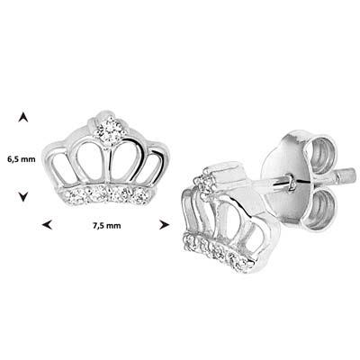 013-28196K Oorstekers kroon zirkonia Z