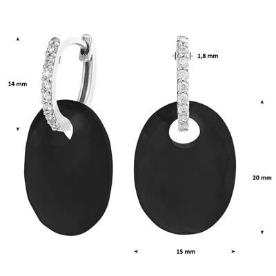 013-29111K Oorringen met Onyx hanger Z