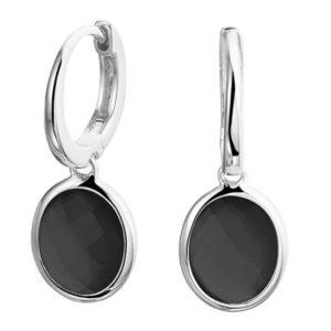 013-29194K Oorringen zilver met onyx