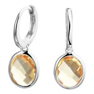 013-29475K Oorringen zilver met citrien
