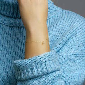 040-20299K Armband Geelgoud met hart
