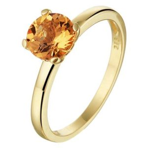 040-20599K Ring Geelgoud met citrien