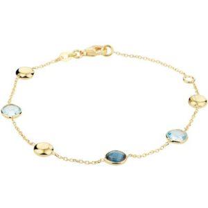 040-20677K Armband Geelgoud met topaas