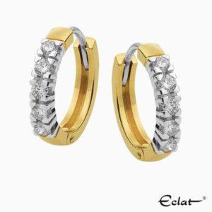 CRE2016-50 Eclat Creolen met diamant