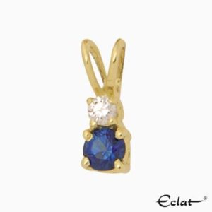 H1520 Eclat Hanger met diamant en saffier