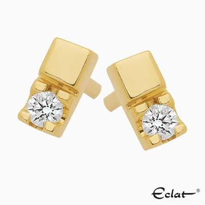 OK303-6 Eclat Oorknoppen met diamant