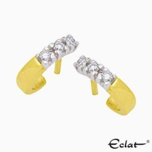 OK703-18 Eclat Oorknoppen met diamant