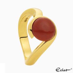 R2019-1 Eclat Ring met bloedkoraal