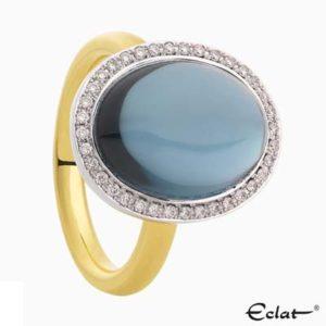 R2019-2-36 Eclat Ring met diamant en topaas