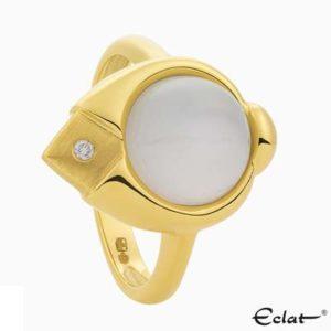 R2019-3 Eclat Ring met diamant en maansteen