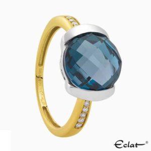 R2019-5 Eclat Ring met diamant en topaas