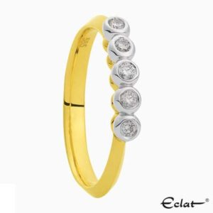 R2019-61 Eclat Ring met diamant