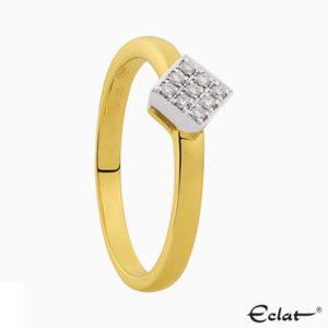 R2019-64 Eclat Ring met diamant
