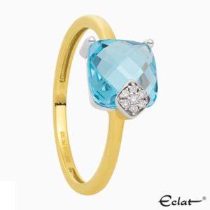 R2019-9 Eclat Ring met diamant en topaas