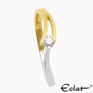 V-slag Ring met diamant Eclat