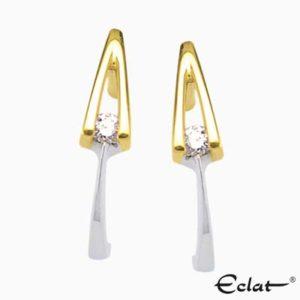 V-Oorknoppen met diamant Eclat