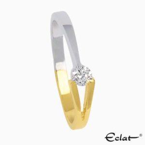 V-Ring met diamant Eclat