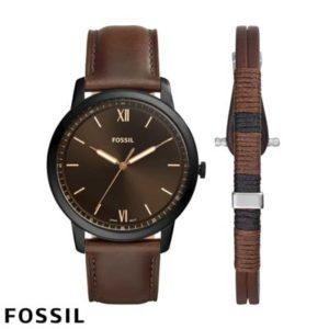 Fossil Heren Horloge The Minimalist 3H FS5557SET