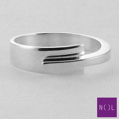 AG10127.5 NOL Zilveren ring