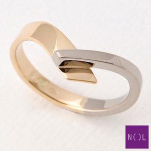AUB90128.5 NOL Zilveren ring