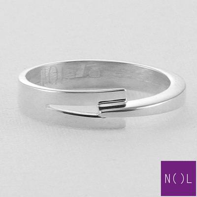 AG77133.5 NOL Zilveren ring