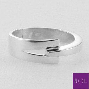 AG77133.7 NOL Zilveren ring