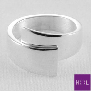 AG80154.9 NOL Zilveren ring